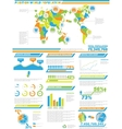 INFOGRAPHIC DEMOGRAPHICS POPULATION 2 SPECIAL vector image