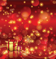 christmas background with gifts 0110 vector image vector image
