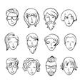 Cartoon people Characters design vector image