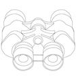 Binoculars line- vector image