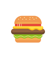 hamburger icon sign vector image