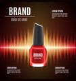 red nail polish template vector image