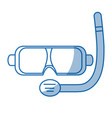 scuba mask and snorkel isolated on white vector image