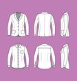 set of a long sleeves shirt and blazer vector image