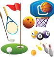 Set of sport symbols vector image
