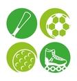 sport equipment icon vector image