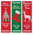 banners christmas vertical vector image vector image