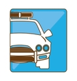 car police icon image vector image