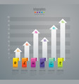 graph design with 6 options vector image