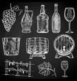set of wine design element vector image