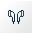 earmuff outline symbol premium quality isolated vector image