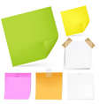 Color Notes Paper Set vector image vector image