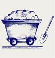 Mining cart vector image