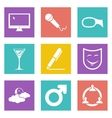 Icons for Web Design set 21 vector image
