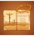Jesus Christ on cross on Good Friday Bible vector image