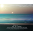 sea landscape with the setting sun vector image vector image