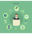 Icons set of meeting conference infographic design vector image