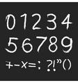 chalk alphabet vector image