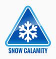 Snow calamity vector image
