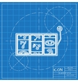 slot icon Eps10 vector image
