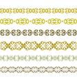 pattern border vector image vector image