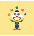 Joyful Clown Juggling vector image