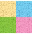 seamless dinos vector image vector image