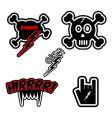 comic dark symbols vector image