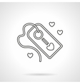 Declaration of love label flat line icon vector image