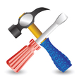 hammer and screwdriver vector image