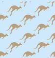 kangaroo seamless pattern vector image