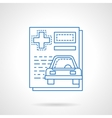 Medical car insurance flat line icon vector image
