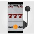 mobile gambling vector image