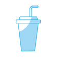 silhouette yummy and refreshment soda to drink vector image