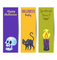 template for halloween banner vector image