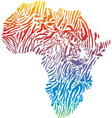 abstract Africa in a tiger camouflage vector image