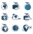 travel logo set vector image vector image