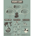 INFOGRAPHIC STYLE NEW ELEMENT RETRO vector image vector image