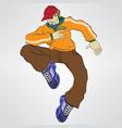 rapper boy vector image