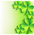 Abstract St Patricks day card with leaf clover vector image