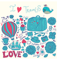 Artistic Travel background vector image