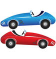 Toy racing cars 2 vector image