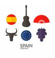 Spain Icon set vector image