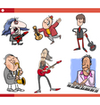 musicians characters set cartoon vector image