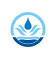 water drop icon circle logo vector image