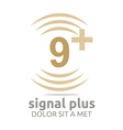 Logo Signal Number 9 Plus Brown Figure Wireless vector image