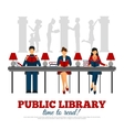 Poster Of Scene In Library vector image