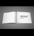 Brochure blank page vector image vector image