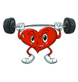 Active Cartoon Heart vector image