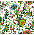hand drawn flower seamless pattern colorful vector image